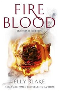 cover of Fireblood, UK edition